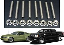 Ford 4.6 & 5.4 Liter V8 Stainless Exhaust Manifold Studs Stud Kit New Free Ship