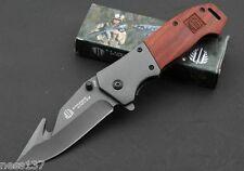 Couteau de Survie Strider Manche Bois Gravé 11,5 cm Lame Acier Inoxydable 9 cm