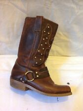 Next Brown Mid Calf Leather Boots Size 5