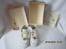 Vintage Baby Beaver Infant Leather Shoes with Bells
