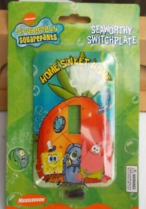 Nickelodeon SpongeBob Squarepants Seaworthy Light Switch Plate HOME SWEET HOME