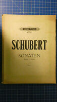 Schubert Sonaten Edition Peters No.488 Band 1 H-8177