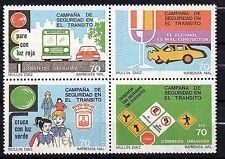 Uruguay #1348 MNH stamp Traffic safety campaign alcohol bus accident signs car