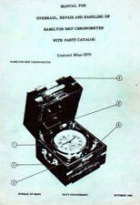 Hamilton model 21 Ship Chronometer  Repair Manual on CD