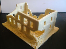 SHQ WWB14 1/76 Resin WWII Western European Big Ruined House+Partial Second Floor