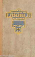 Catalogue photographique N.V. Fotohandel Van E.Fischel Jr, Catalogus 29.