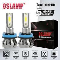 H11 COB LED Headlight Bulbs Conversion Kit 1500W 225000LM Hi/Lo Beam 6000K White