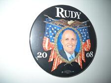 """Rudy 2008 political pin- 3""""pina"""