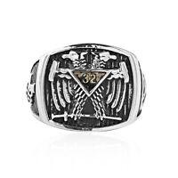 Noir Tungsten maçonniques Anneaux Scottish Rite-Franc-maçon 14th degré Grand Elect