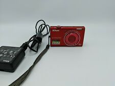 Nikon COOLPIX S6200 16.0MP Digital Camera~~Red~~Bundle~~