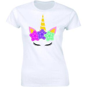 Unicorn Birthday Girl - Cute Fantasy Cool Rainbow Unicorn Women's T-shirt Tee