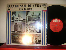 "TRIO LA ROSA-""CUANDO SALI DE CUBA""  REMO Records N° L.P 1551-   US Press  NM/NM"