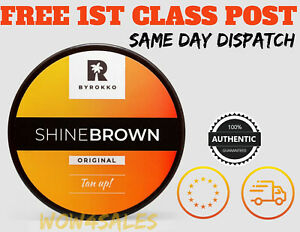 BYROKKO SHINE BROWN Fast Tanning Accelerator Cream Sunbed & Outdoor 190ml UK