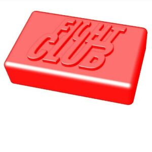 QT0126 Embossed Fight Club Shaped Bar Soap Silicone Soap Mold for Gift Handmade