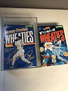 1 1997 GM FROSTED &1HONEY FROSTED WHEATIES NEW/UNOPENED CEREAL BOX! GRIFFEY JR!!