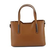 Megan Italian Leather Ladies Handbags -  Cognac Leather Handbag