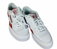 Reebok Club C Revenge Lifestyle Leather White Red Men 9 Shoes Sneakers Fashion