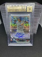 2018 Bowman Chrome Draft Anthony Seigler Sparkle Refractors Auto BGS 9.5 Tru Gem