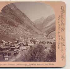 Zermatt Switzerland Toward Rhone Valley Keystone Stereoview1901