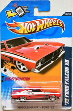 HOT WHEELS 2012 MUSCLE MANIA - FORD '73 FORD FALCON XB #10/10 BAD CARD
