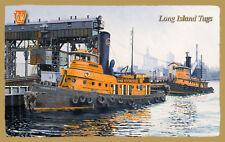 Long Island RR - Long Island Tugs Wood Plaque-Sign/Man Cave/Train&Kid Room