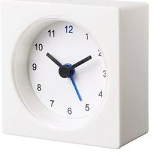 IKEA VACKIS Battery-operated Analog Small Portable Travel Alarm Clock  White NEW