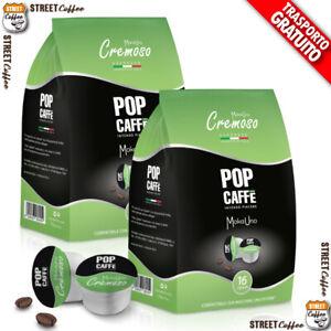 100 CAPSULE CAFFE POP Caffè 2 CREMOSO BLISTER COMPATIBILI UNOSYSTEM UNO SYSTEM *