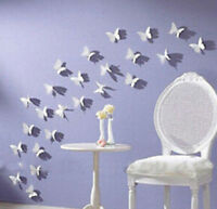 Sticker White Butterfly 3D DIY Wall Sticker Fashion Home Decor Room Decoration