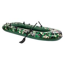 NC Camouflage 3-Person 10FT Inflatable Dinghy Boat Fishing Rafting Water