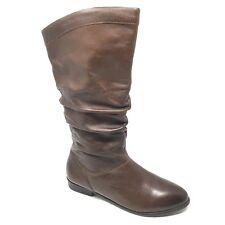 Women's Aldo Slouch Boots Shoes Size 7 US/37.5 EU Brown Leather Zip Up P10
