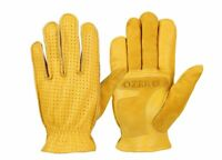 Men's Genuine Leather Gloves Breathable Wear-resistant Hand Wear Mitten For Boys