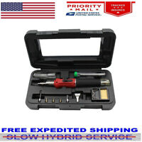 HS-1115K 10 in 1 Professional Butane Gas Soldering Iron Kit Welding Kit Torch