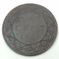 1901 Canada Copper One Large Cent Penny Circulated Canadian Coin C212