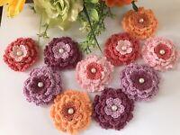 crochet flowers appliques