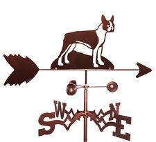 Boston Terrier Weathervane With Garden Mounting