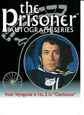 Le prisonnier série 2 autograph card PA7 peter wyngarde, non signé