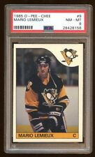 PSA 8 MARIO LEMIEUX 1985 O-PEE-CHEE ROOKIE RC SP #9   NHL GREAT  HOF   RARE