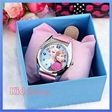 Kids Girls Teen Child Watch Wrist Timer Disney Frozen Elsa Anna Gift Wristwatch