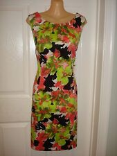 Chetta B Wear to Work Multi-Color Floral Print Sheath Dress Sz 10