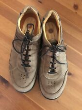 Clarks Un Structured Womens Walking Shoes Size 9 Medium Leather Brown Laces