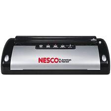 Nesco 130 Watt Black & Silver Food Vacuum Sealer With Bag Cutter VS-02 New