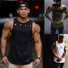 Wolf Fitness Mens Sleeveless T-Shirt Vq Gym Training Top Wear Bodybuilding Vest