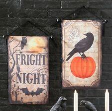 "H3608084 RAZ 21"" Fright Night Banner Halloween Wall Door Hanging Decoration"
