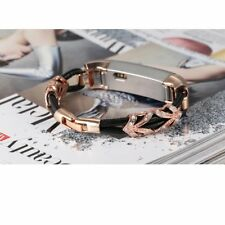 For Fitbit Alta / Hr Genuine Leather Band Jewelry Strap Fashion Cord Wristband