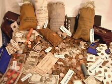 50+ PC. ESTATE LOT- COINS, CURRENCY,GOLD, GEMS, SILVER BARS, PROOF COINS,ETC.