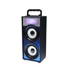 QFX BT-139 Rechargeable Bluetooth Speaker w/FM/USB/SD/AUX-In - BLUE