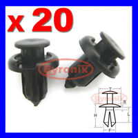 HONDA CIVIC CR-V ACCORD S2000 BUMPER PUSH RIVET CLIPS 10mm BLACK PLASTIC