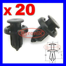 HONDA CIVIC CR-V ACCORD S2000 PARAURTI Spingere Rivetto Clip 10mm Nero in Plastica
