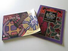 Art Deco Textile Design Book (Skinner) & 127 Authentic Patterns (Thomas & Darcy)