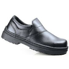 SFC Shoes for Crews Arctic Black Leather Men's Shoes 5256 Sz 4.5 / 36.5 $52 NEW